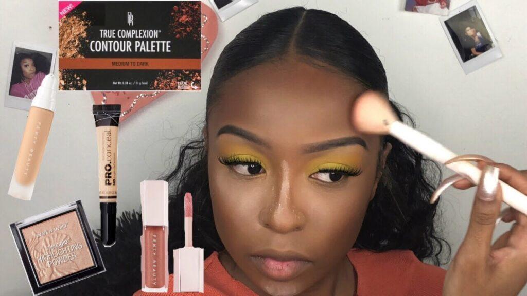 Step-By-Step Beginner Makeup Tutorial  Makeup For Black Women -6525