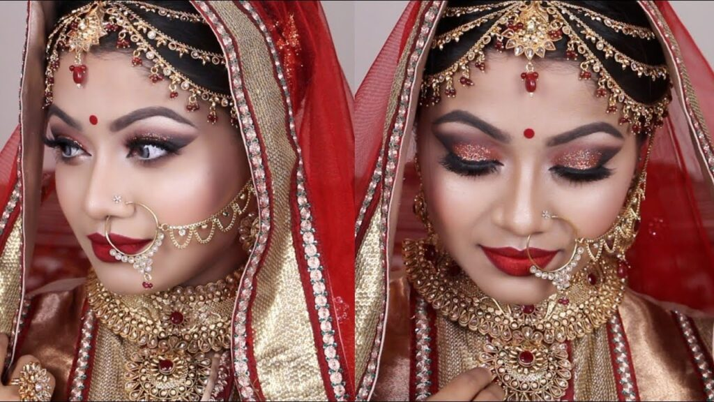 Red Asian Bridal Makeup Tutorial 2017