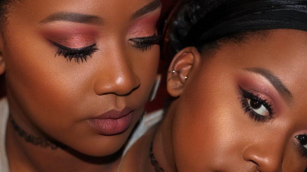 Rose Gold Everyday Makeup Tutorial  Makeup For Black -3602